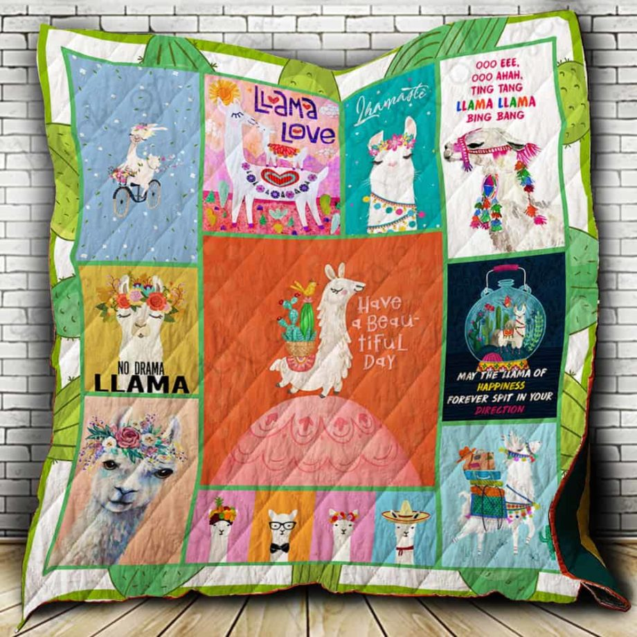Llama Have A Beatiful Day Quilt P360 KP-55