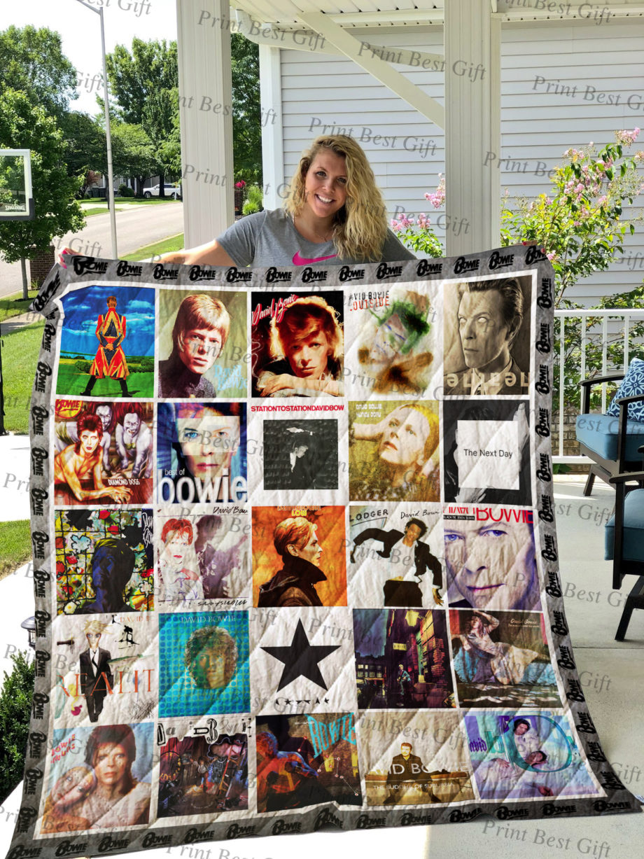 David Bowie Albums Cover Poster Quilt Ver 2