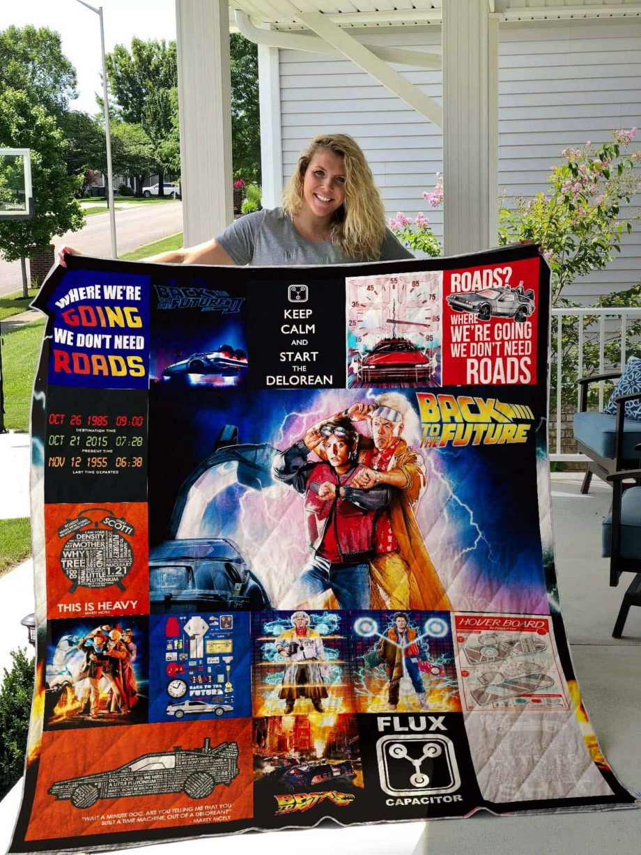 Back to the Future Quilt Blanket