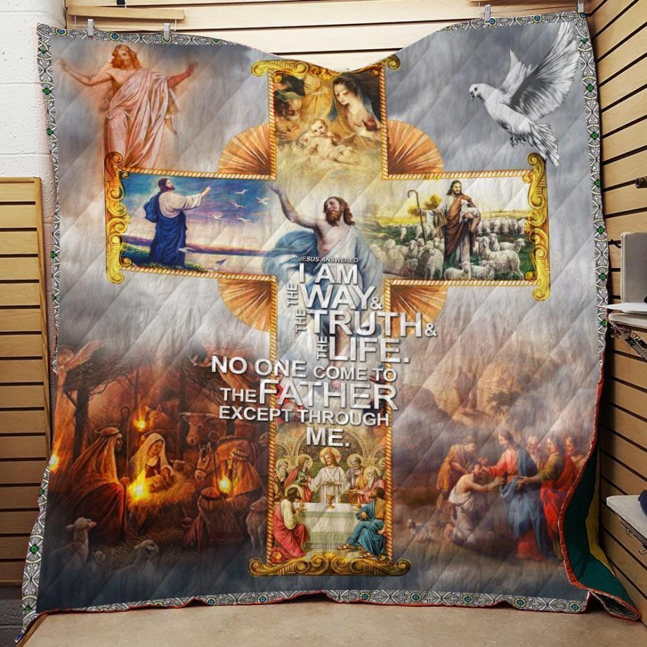 Boston Celtics Jesus The Truth #8211 The Way & The Life Quilt