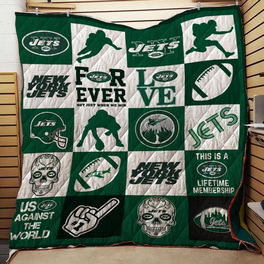 Boston CelticsNYJ Quilt Blanket 02