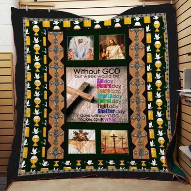 Boston CelticsWithout GOD Quilt