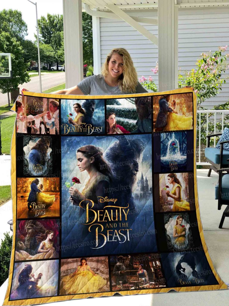 Beauty and the beast live action Quilt Blanket 01