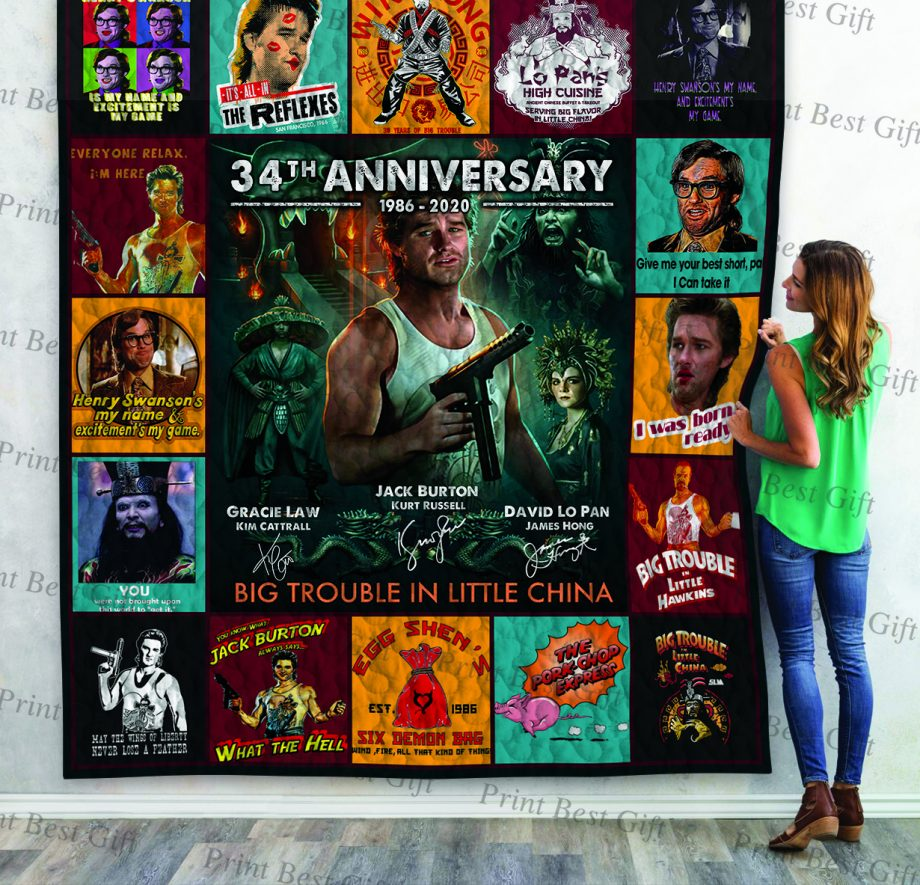 Big Trouble In Little China Poster Quilt Ver 4
