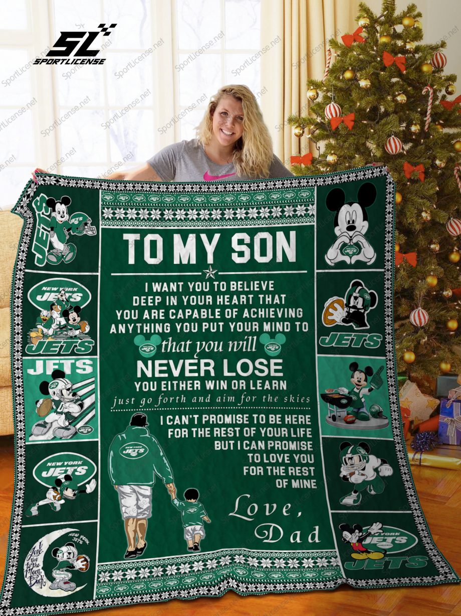 BL NYJ TMS Quilt Blanket