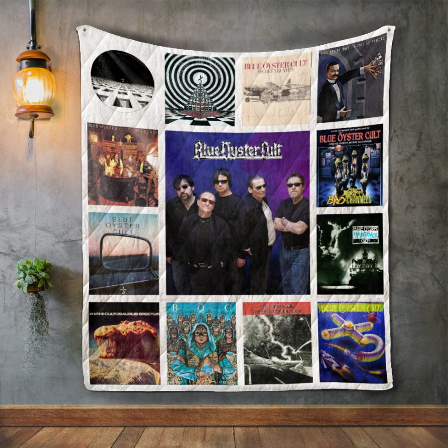 Blue Oyster Cult Album Covers Quilt Blanket