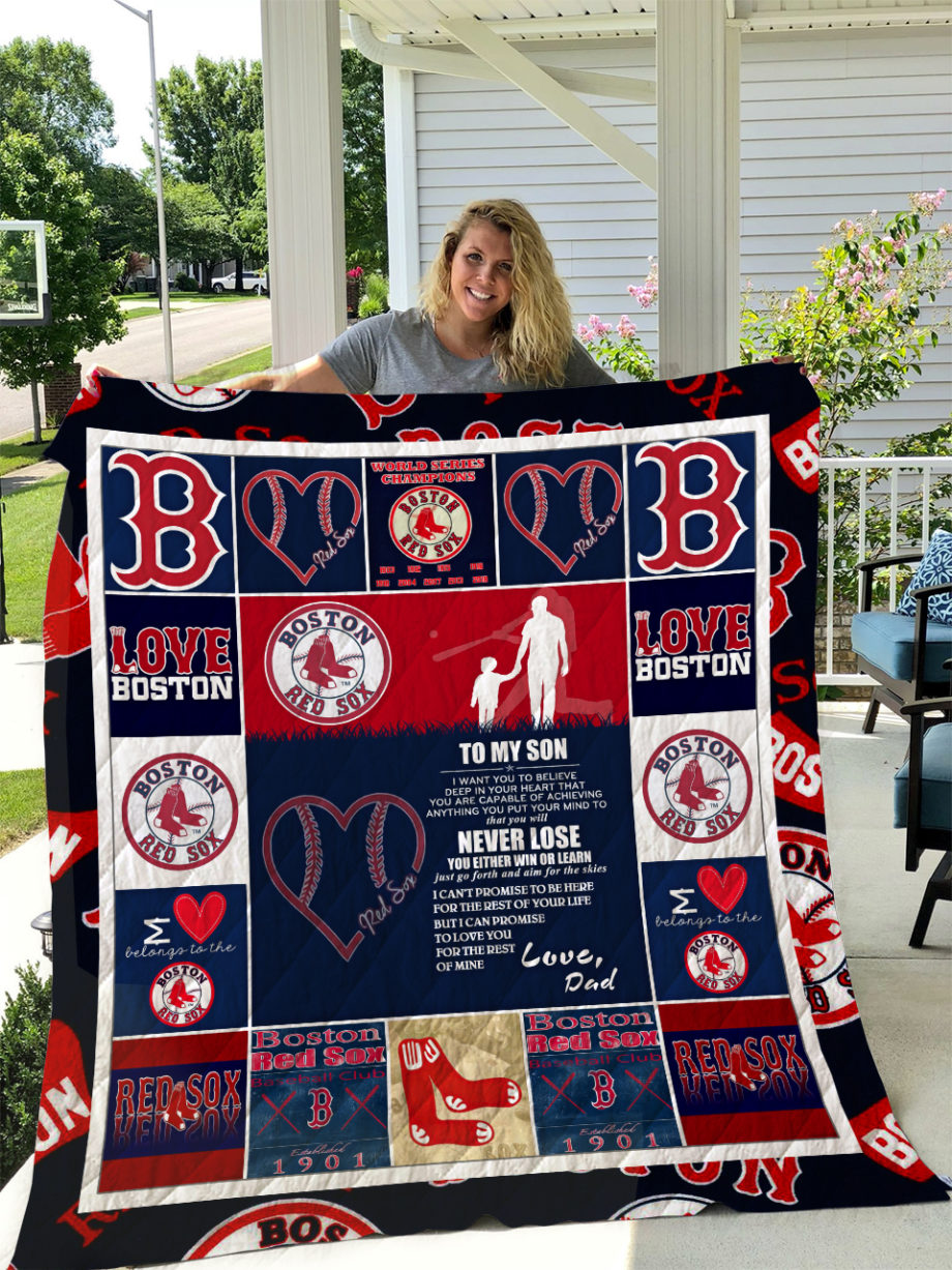 Boston Red Sox  TO MY SON  LOVE DAD Quilt KP-270