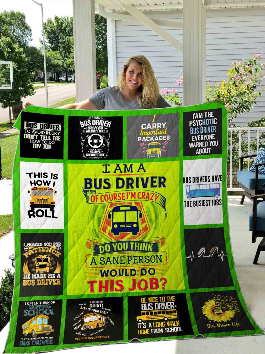 Bus Driver Quilt Blanket 01