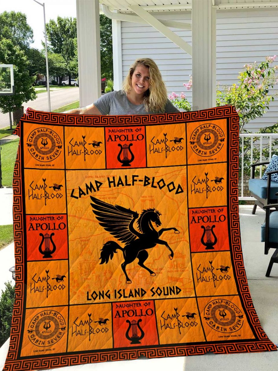 Camp Half Blood (Daughter of Apollo) Quilt Blanket I1D1