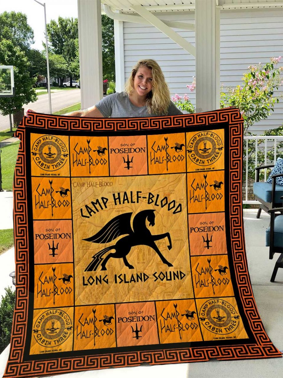 Camp Half Blood (Son of Posiedon) Quilt Blanket I1D2