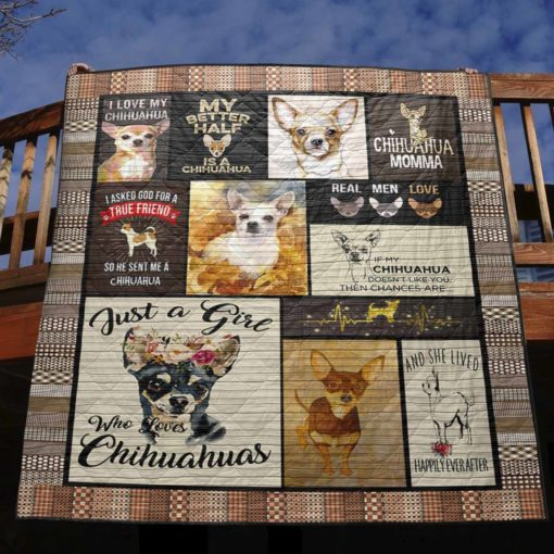 Chihuahua 2 Quilt Blanket