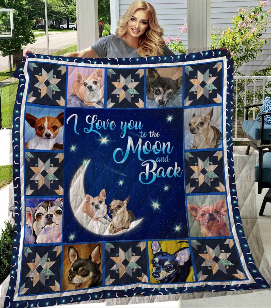 Chihuahua 3 Quilt Blanket