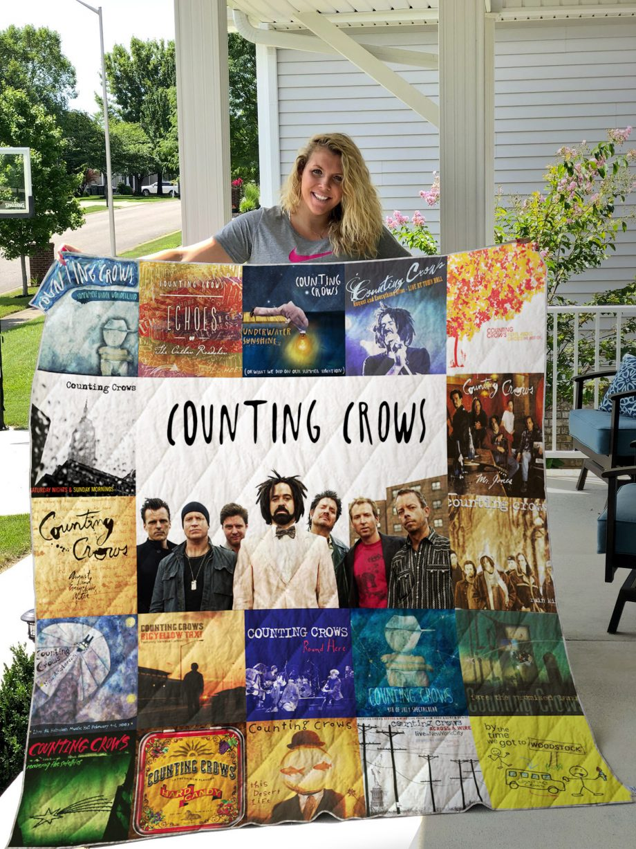 counting crows Style 2 Quilt Blanket