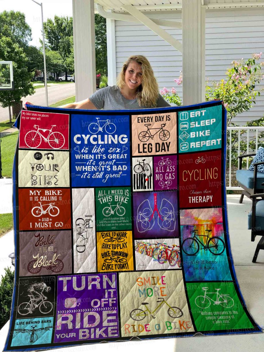CYCLING Quilt Blanket 01