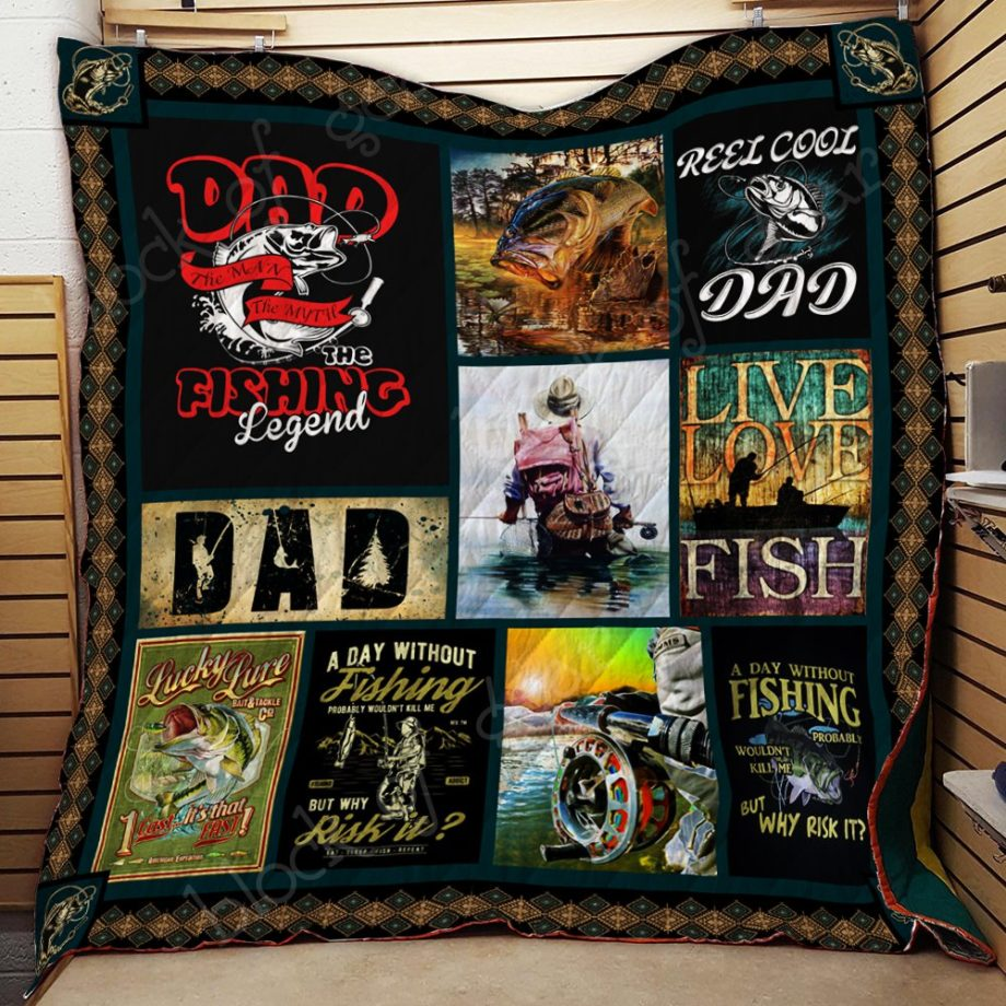 Dad, the fishing legend Quilt KPW570 KP-124