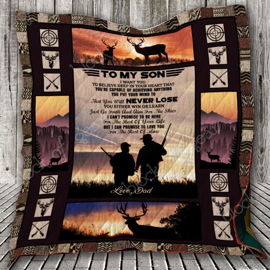 To My Son, Deer Hunting Quilt KPW745