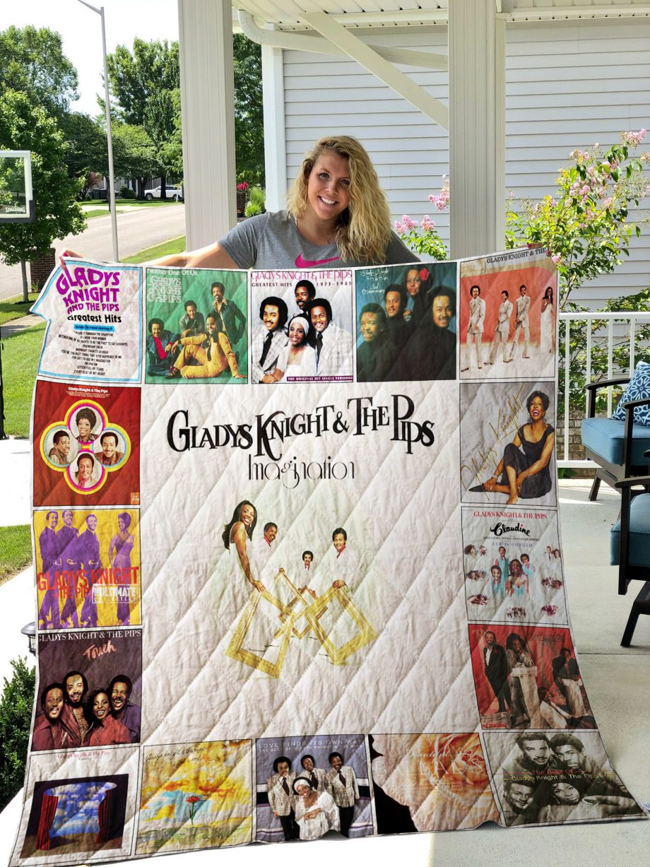 Gladys Knight and The Pips Quilt Blanket 01082