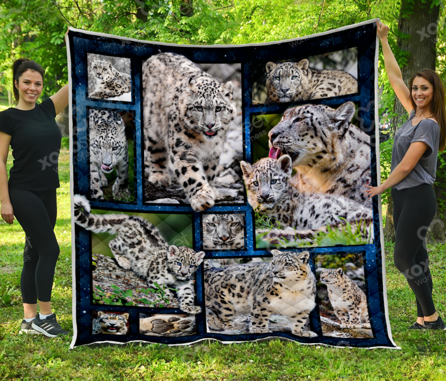Snow Leopard and Leopard Baby Quilt KP-94