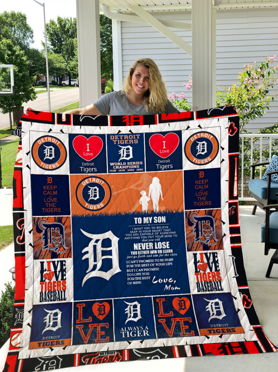 Detroit Tigers  TO MY SON  LOVE MOM Quilt KP-261