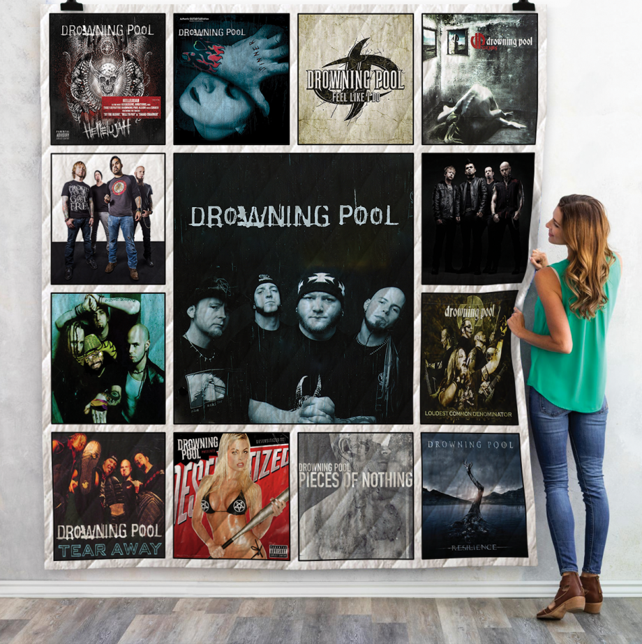 Drowning Pool Albums Quilt Blanket Ver 13