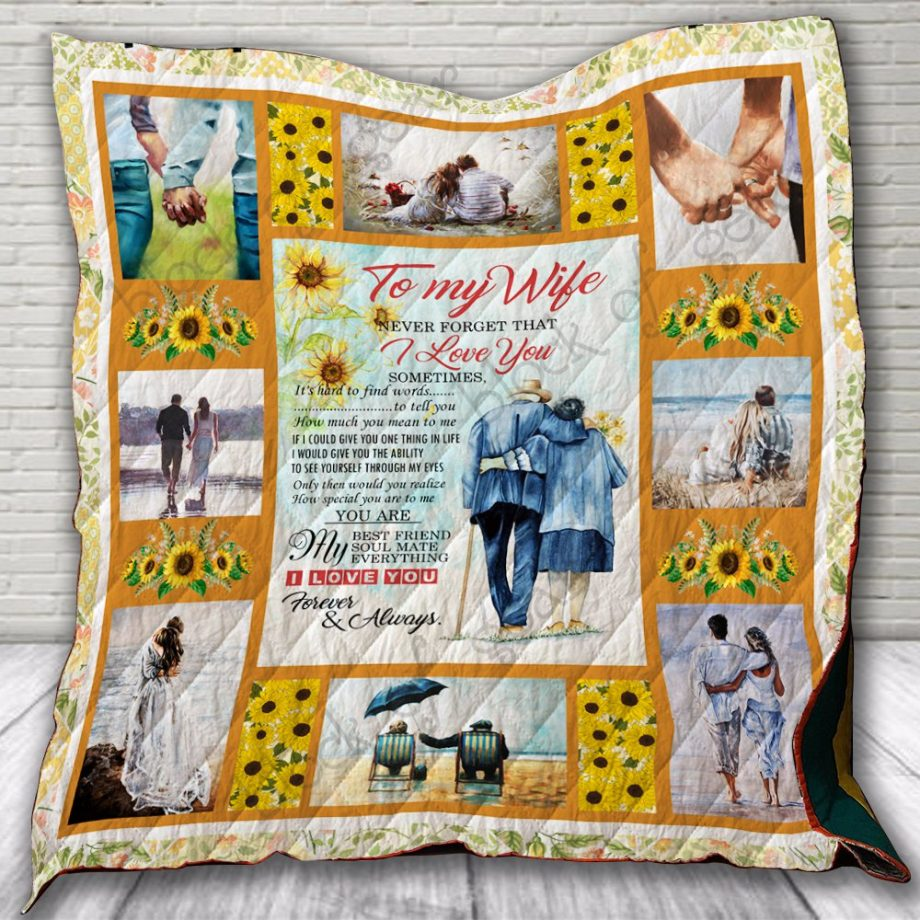To My Wife, I Love You Quilt KPW669