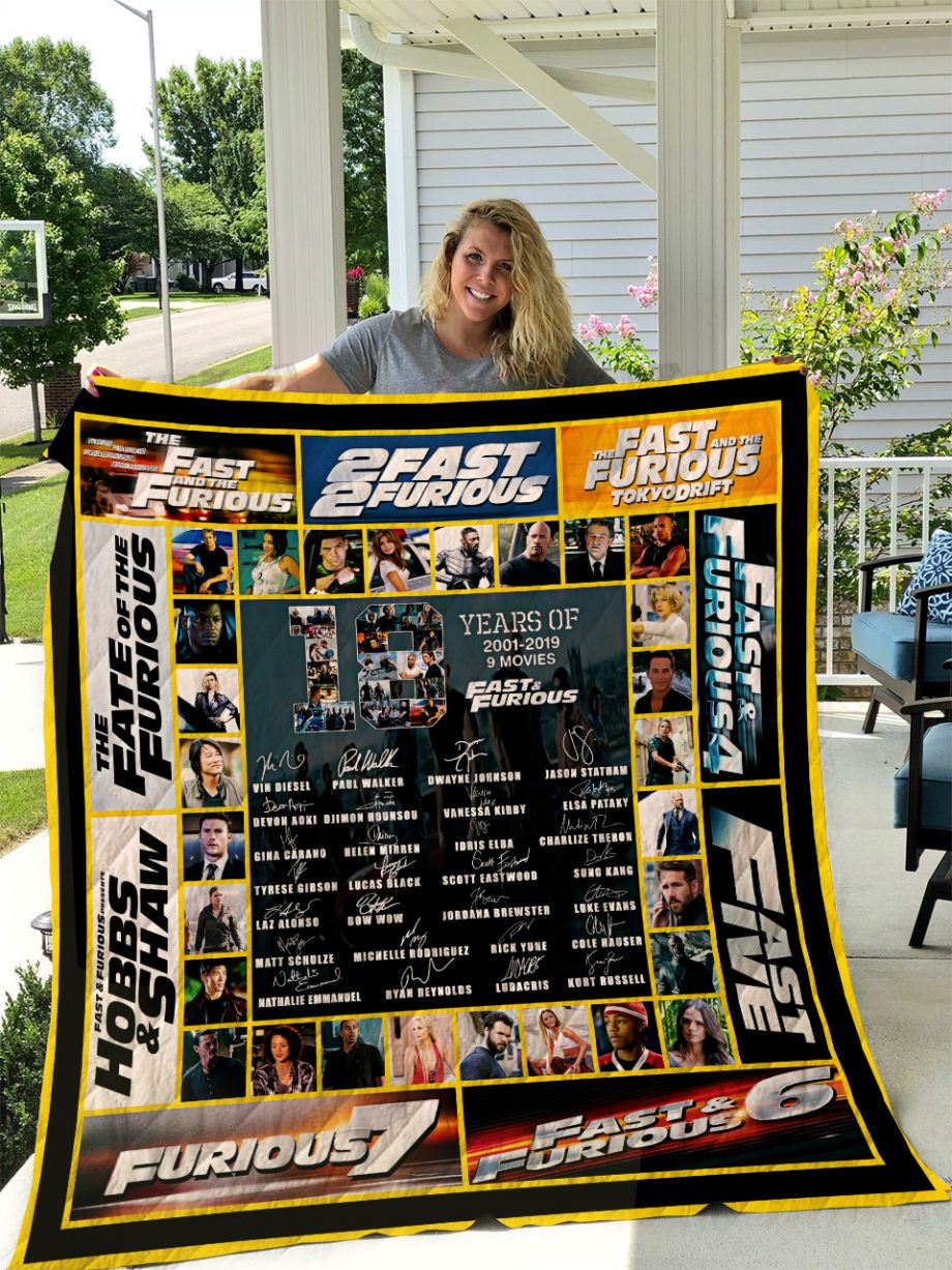 Fast and Furious V3 Quilt Blanket I1D1