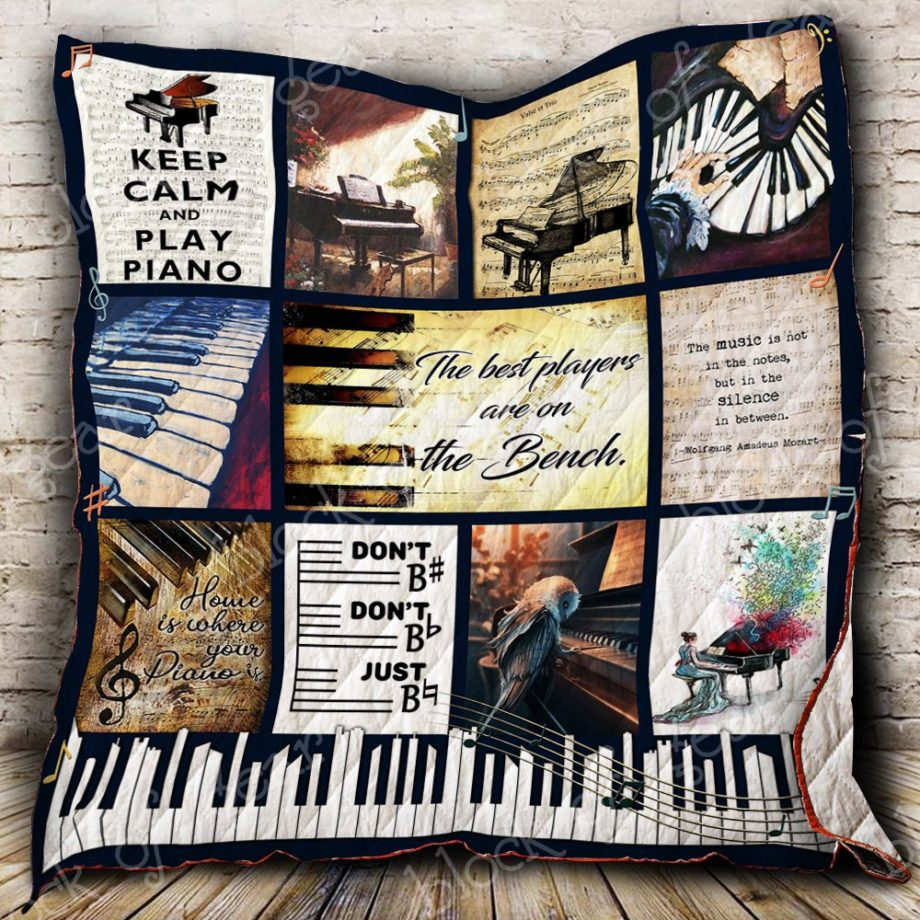 The Best Players Are On The Bench Piano Quilt P401 KP-32