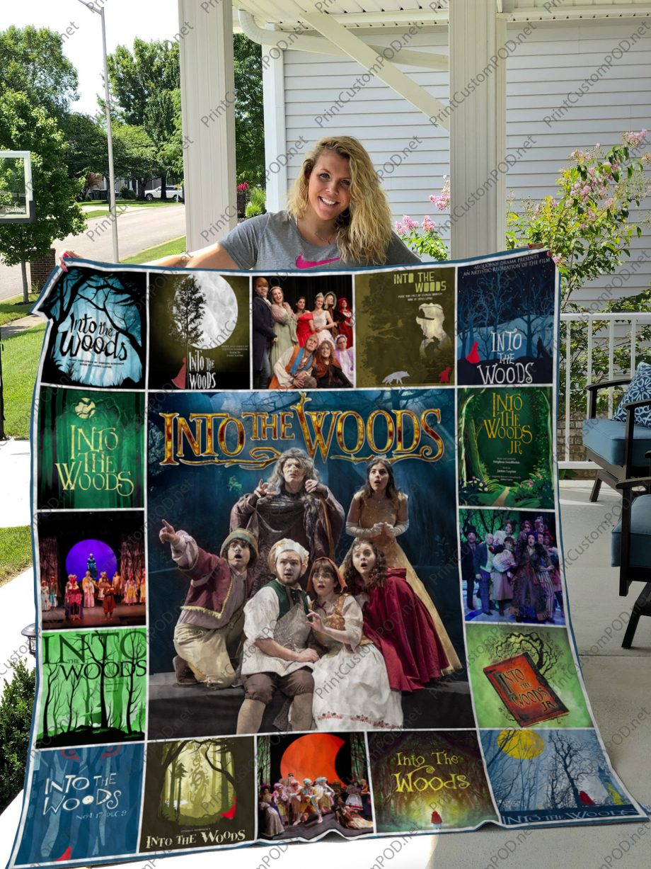 H Into the Woods Quilt Blanket