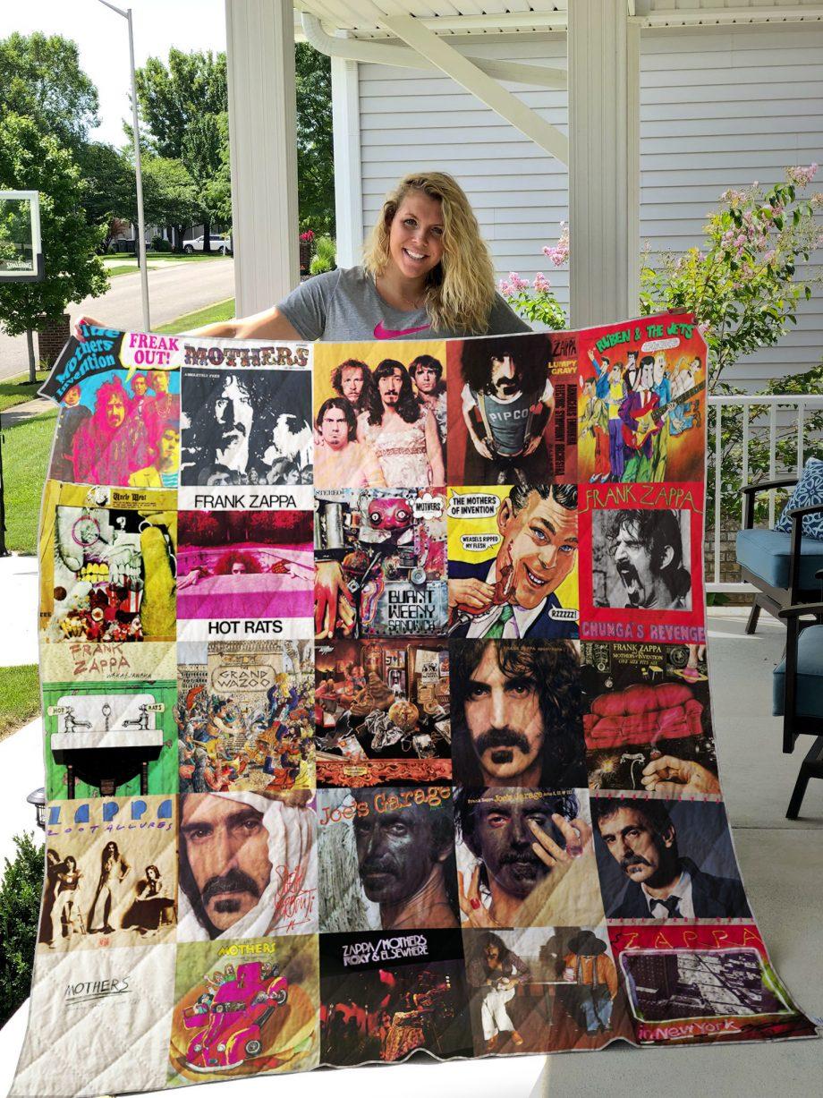 Frank Zappa Style 2 Quilt Blanket