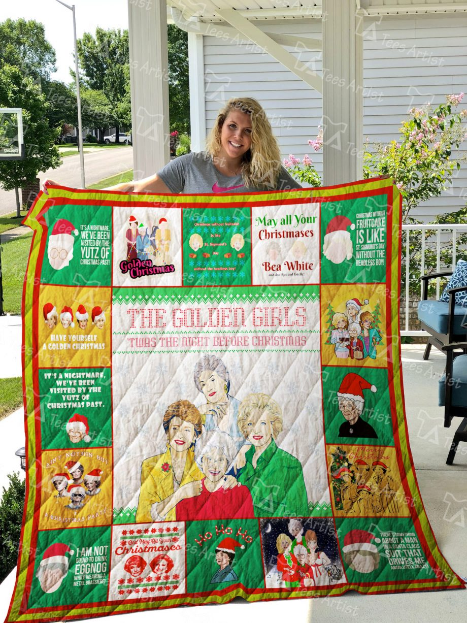 Golden girls xmas Quilt Blanket 01889