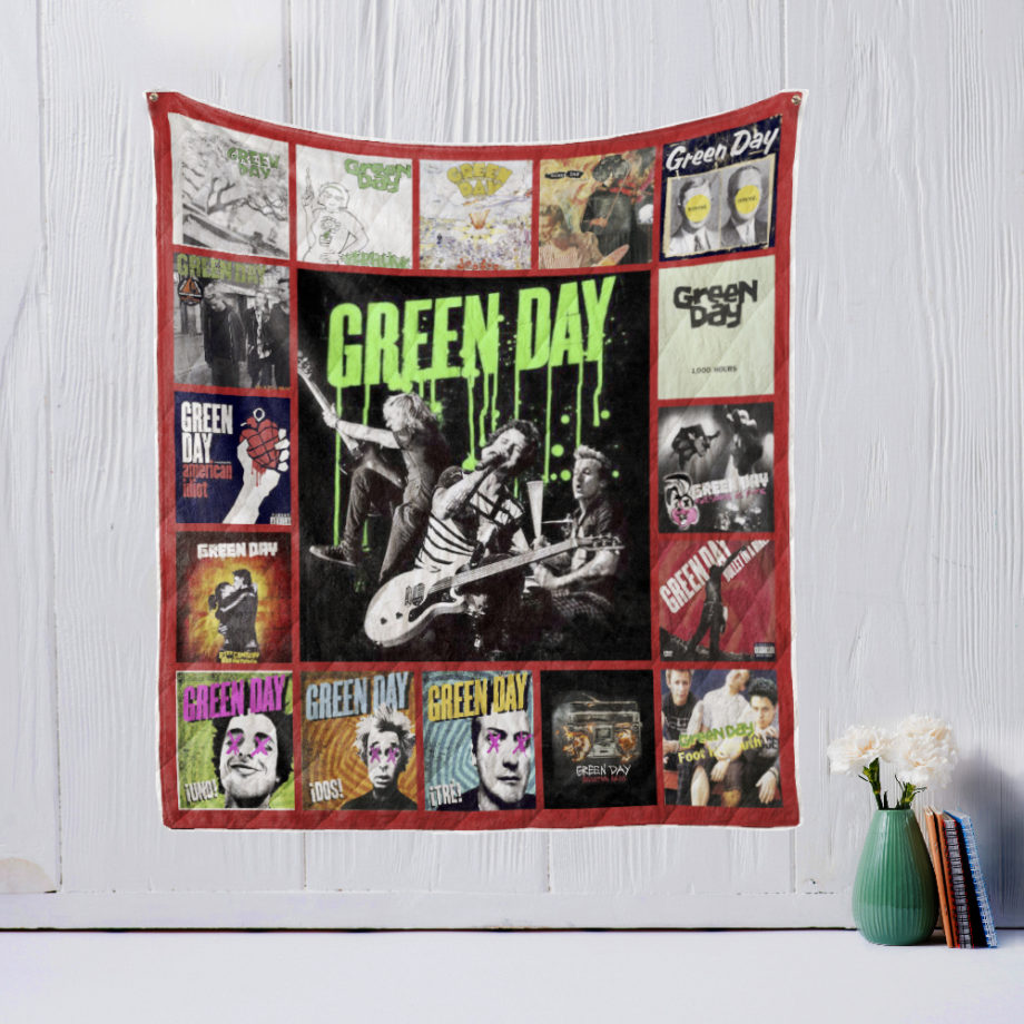 Green Day Style 2 Quilt Blanket