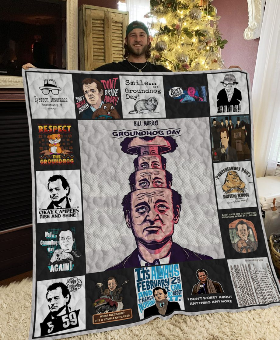 Groundhog Day Poster Quilt Ver 2