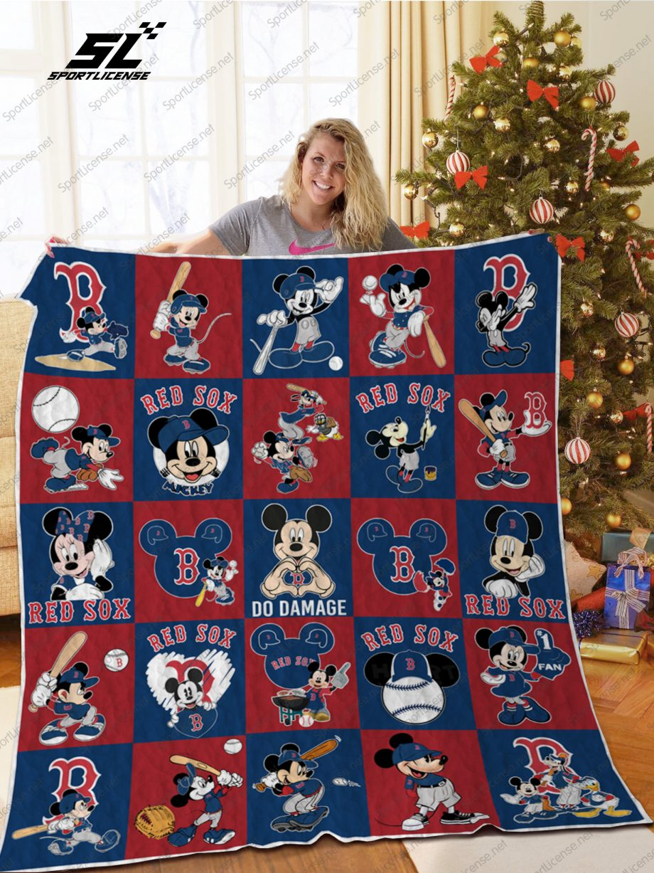 H Boston Red Sox DN Quilt Blanket