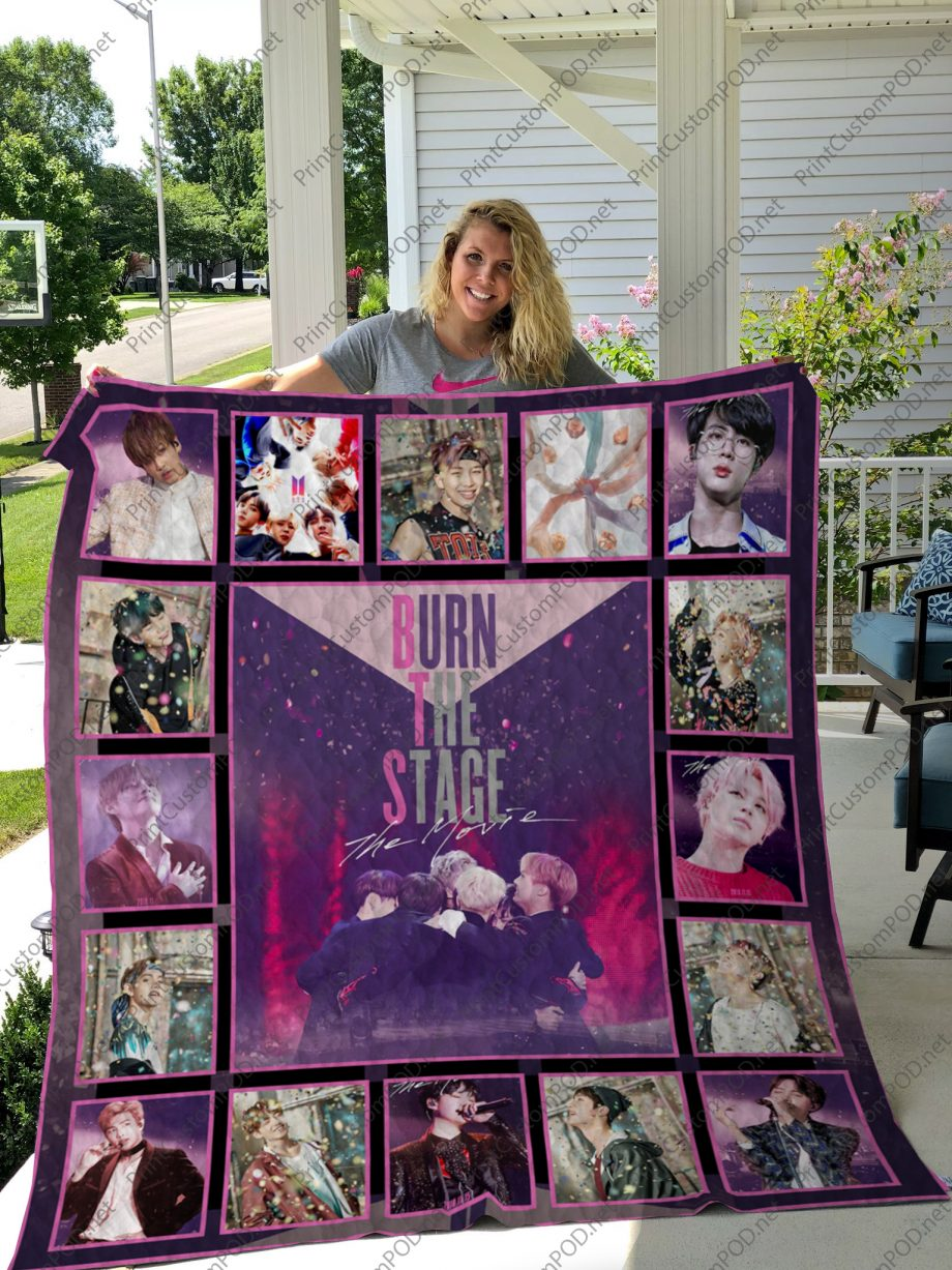 H BTS Quilt Blanket For Fan ver 171
