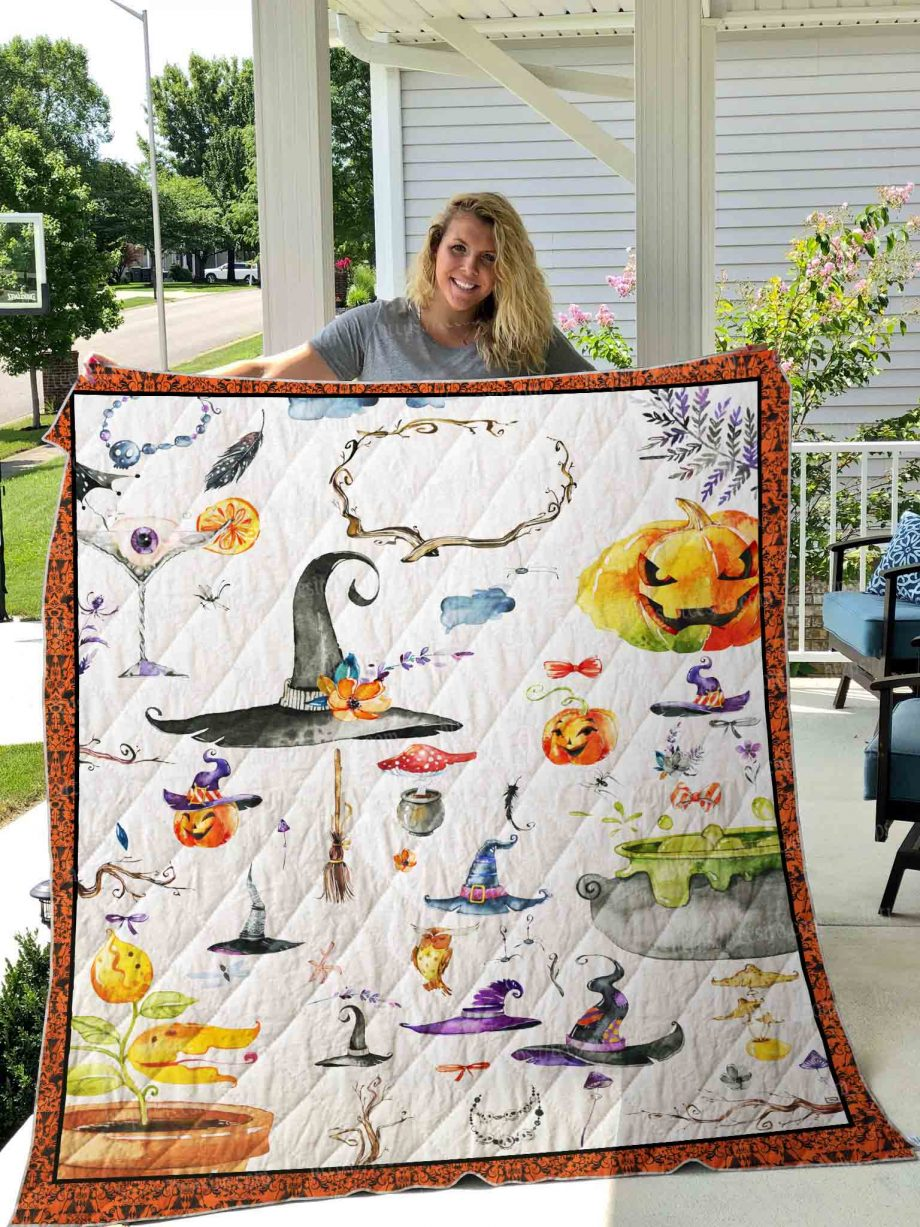 HALLOWEEN Icon Quilt Blanket 01