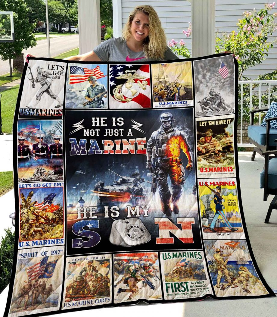 He Is Not Just Marine He Is Son Quilt0489