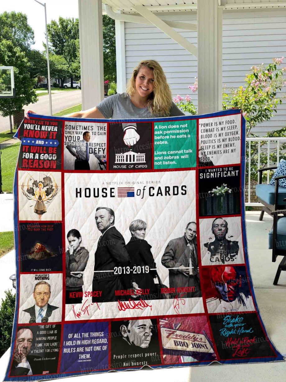 House of Cards Quilt Blanket 01
