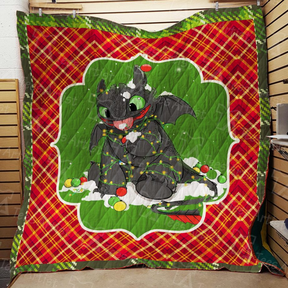 How to Train Your Dragon Quilt Blanket 01910