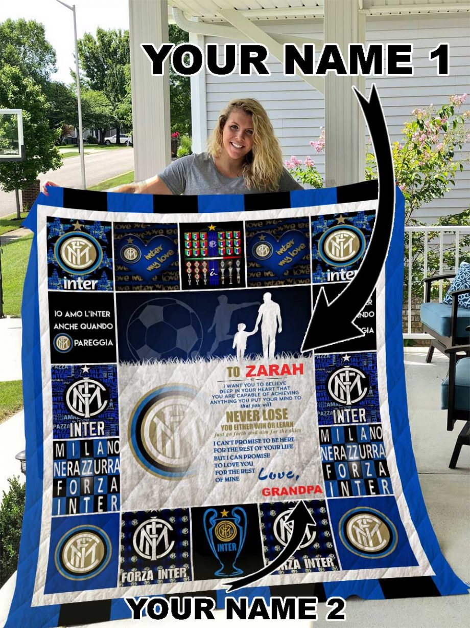 Inter Milan Personalized Name Quilt