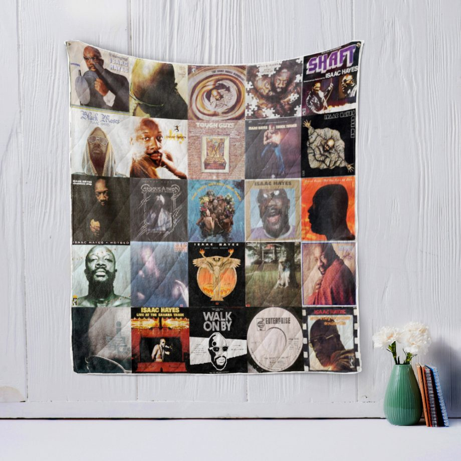 Isaac Hayes Quilt Blanket