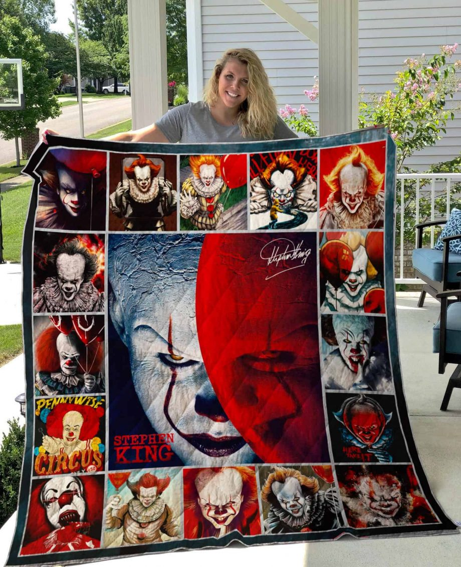 IT Chapter Pennywise Quilt Blanket