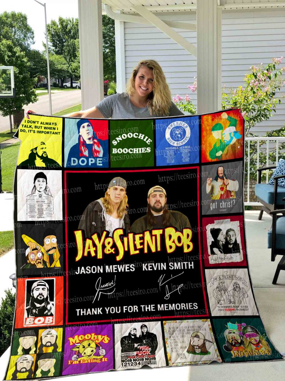 Jay and Silent Bob Quilt Blanket 01