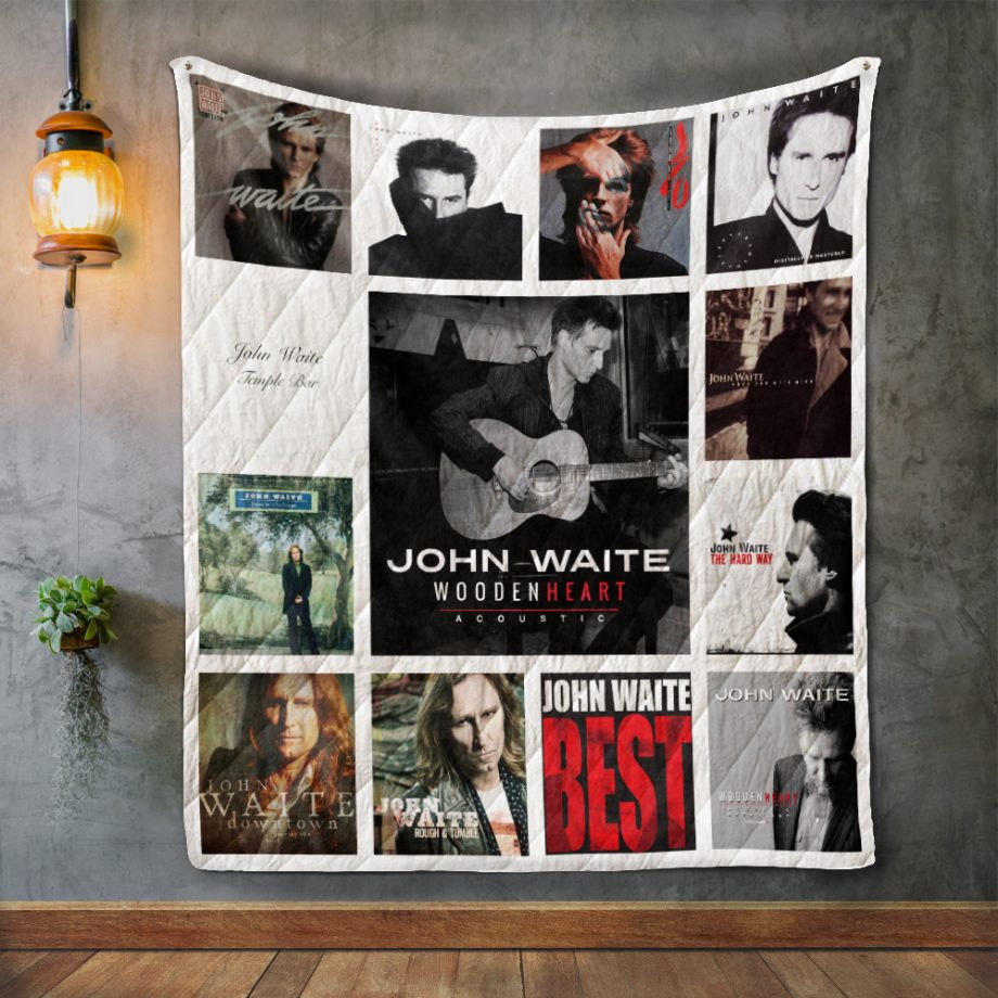 John Waite Album Covers Quilt Blanket