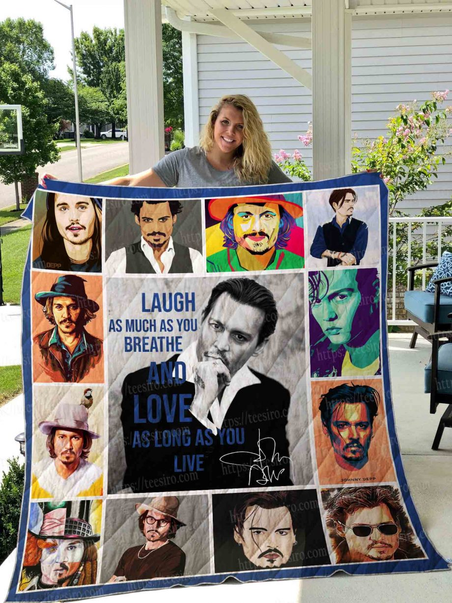 JOHNNY DEPP ILLUS Quilt Blanket 01