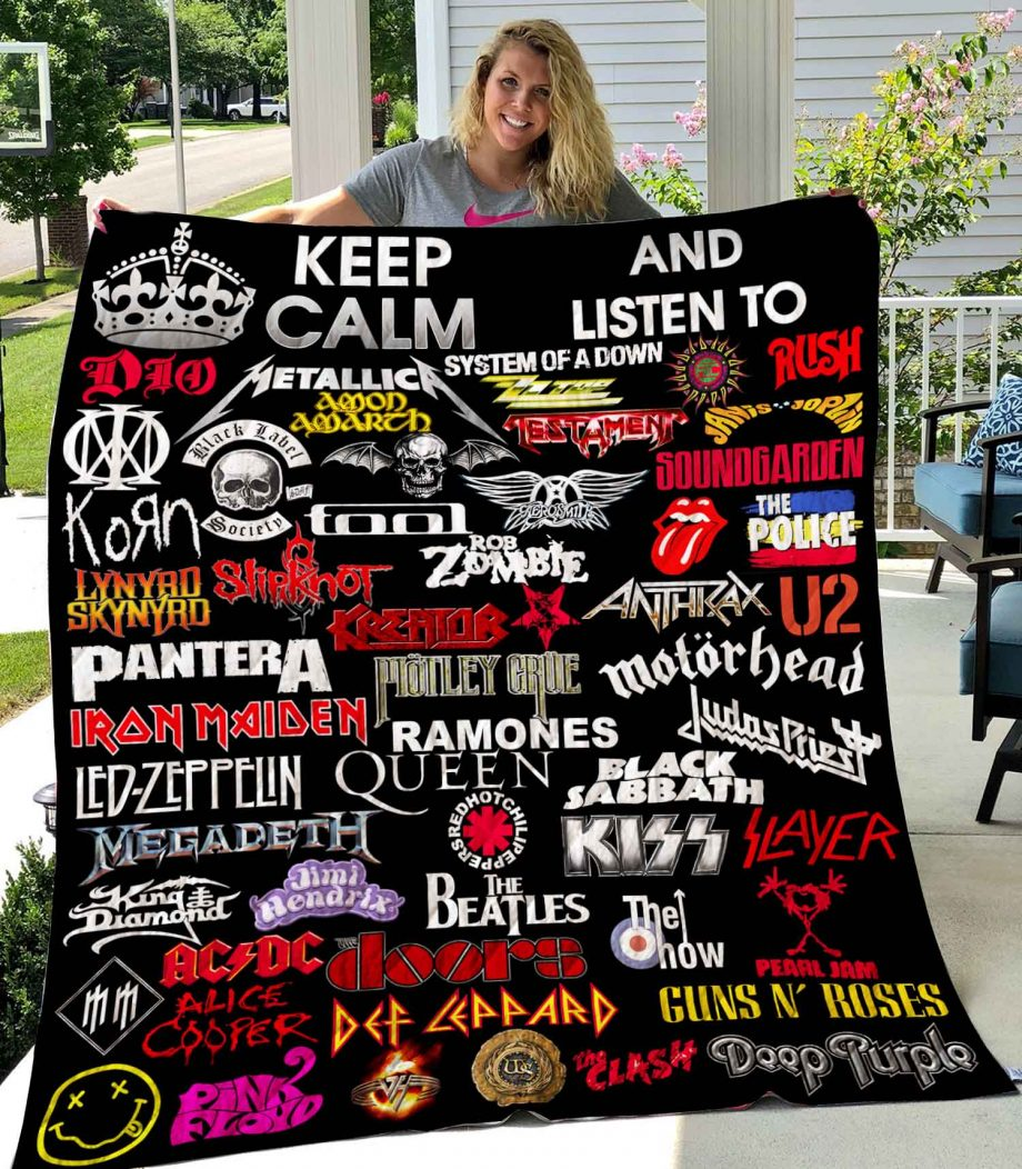 Keep Calm And Listen To Rock Quilt0489