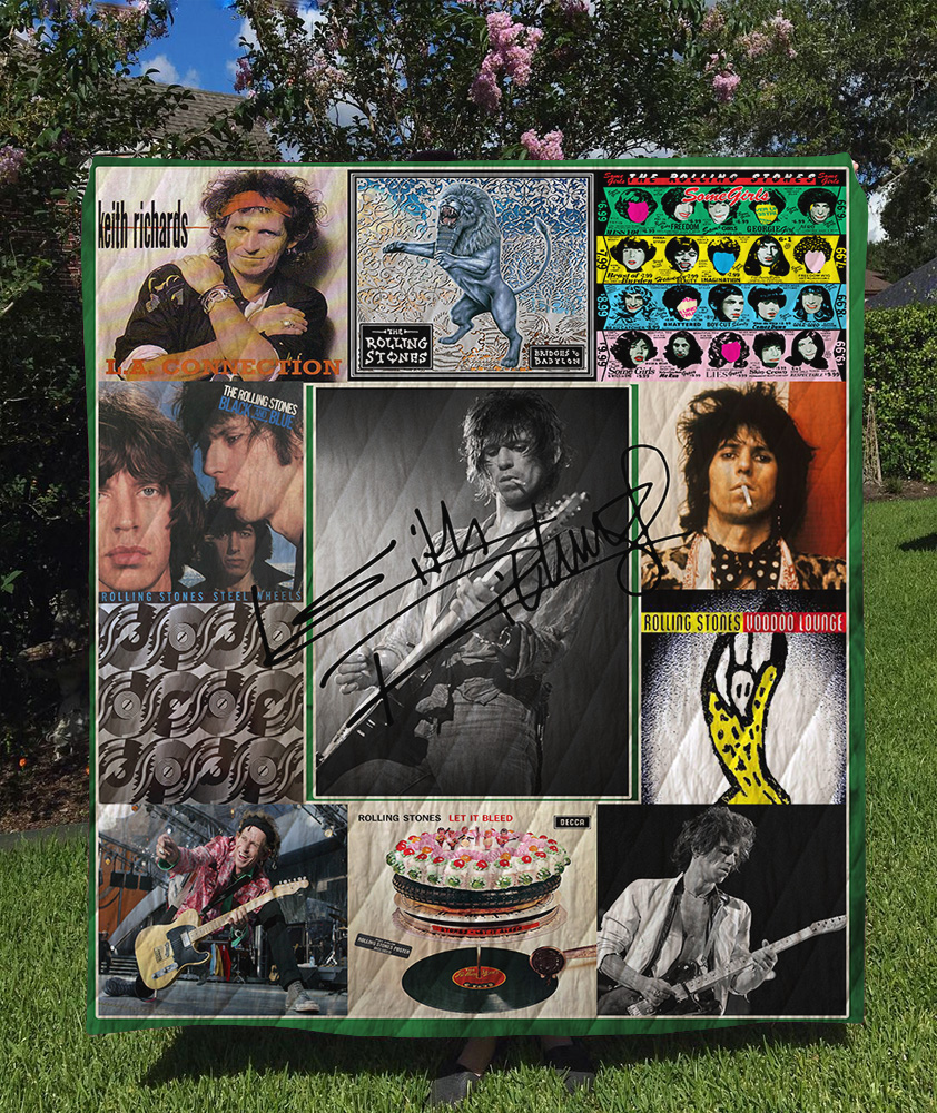 Keith Richards Albums Quilt Blanket