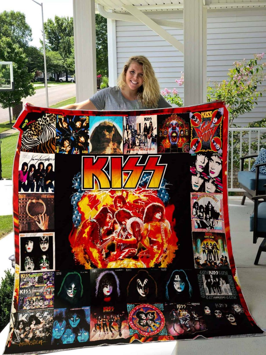 Kiss Band Quilt Blanket