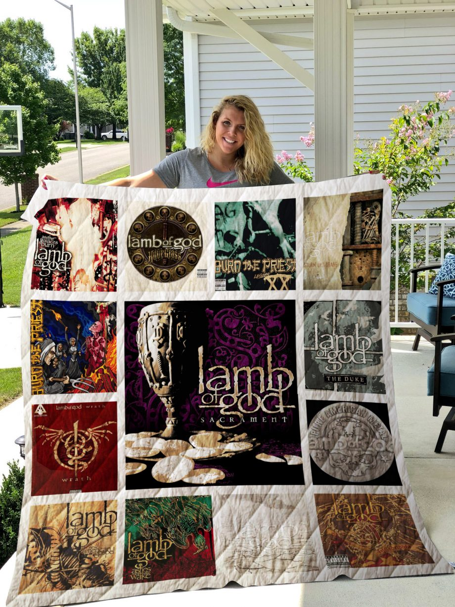 Lamb Of God Quilt Blanket 01