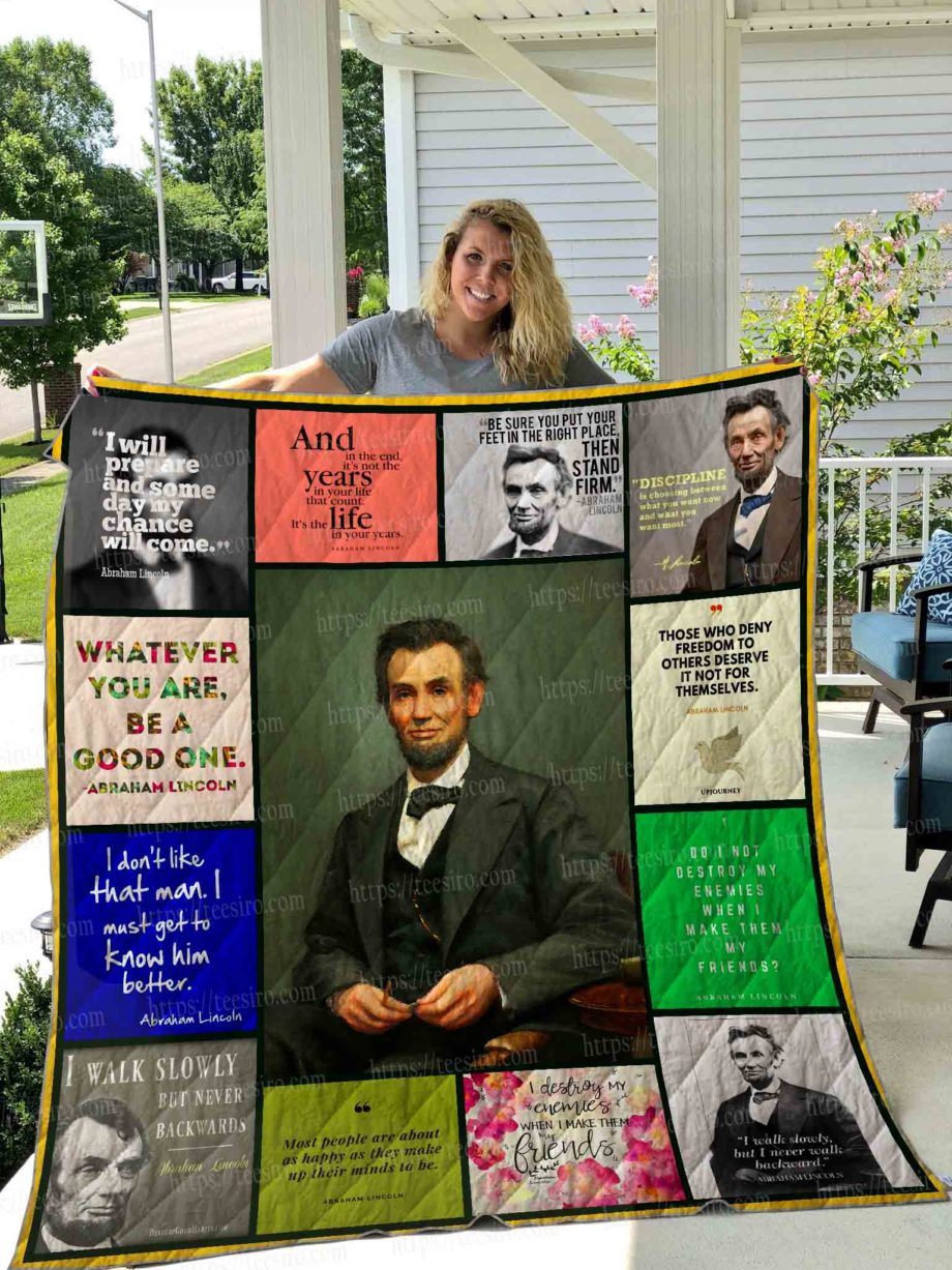 LINCOLN QUOTES Quilt Blanket 01