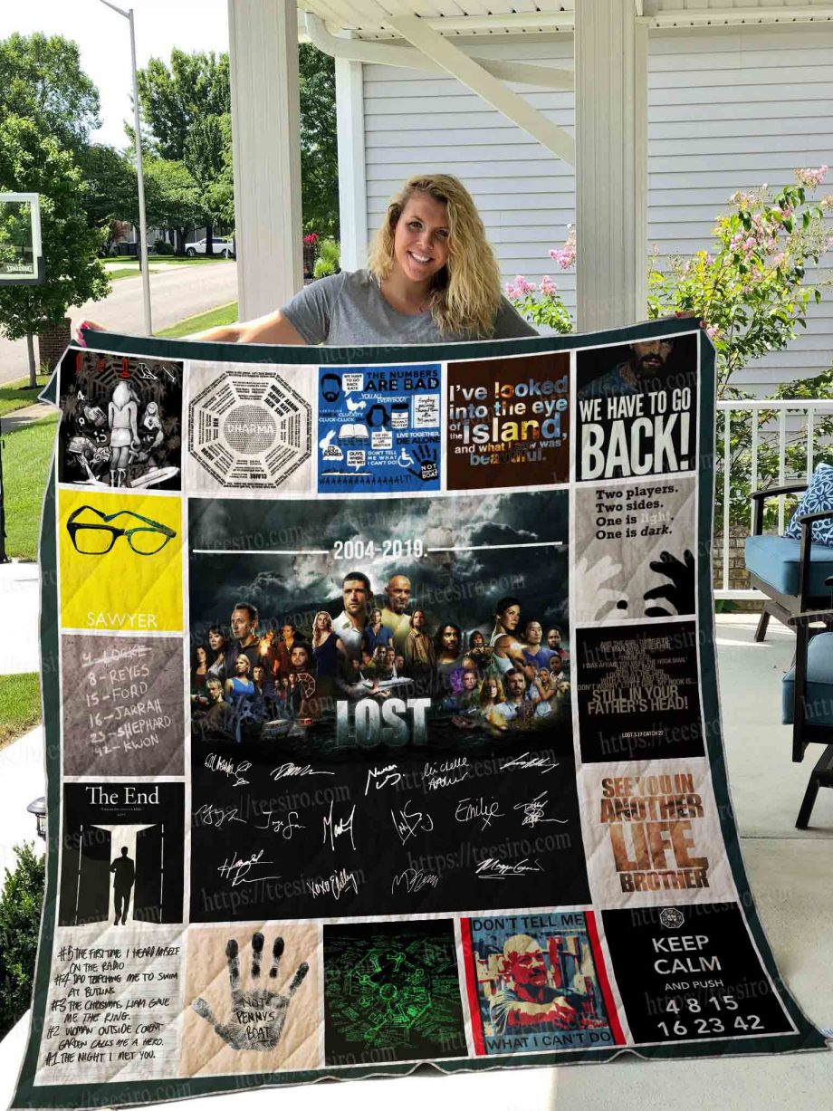 LOST TV SHOW Quilt Blanket 01